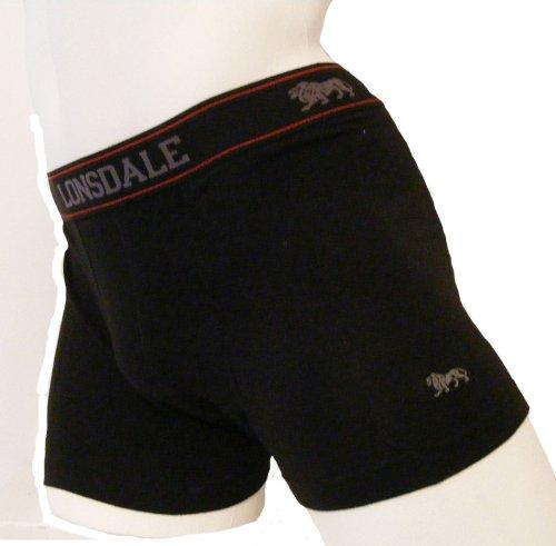 2-x-LONSDALE-Herren-Unterwsche-Boxershorts-Trunk-Boxer-Shorts-Noir-0-0