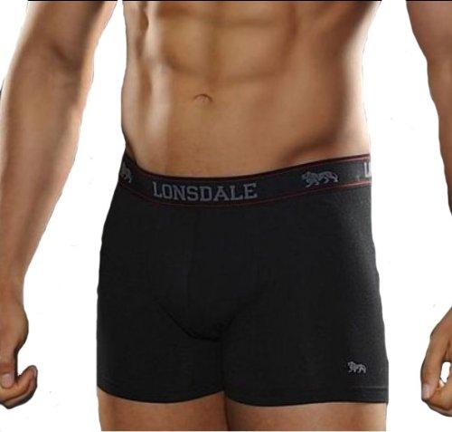 2-x-LONSDALE-Herren-Unterwsche-Boxershorts-Trunk-Boxer-Shorts-Noir-0