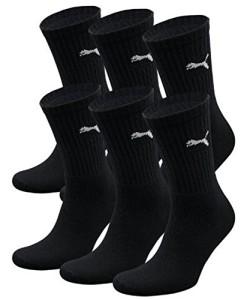 6-Paar-PUMA-Unisex-Crew-Socks-Socken-Sportsocken-MIT-FROTTEESOHLE-0
