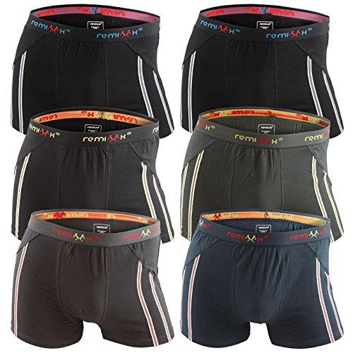 6er-Pack-Herren-Retroshorts-Boxershorts-schwarz-dunkelblau-mix-M-L-XL-oder-XXL-0