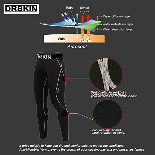 DRSKIN-DB01-Tight-Kompressionshose-Funktionswsche-Pants-Base-Layer-Laufhose-Mnner-Frauen-Lang-0-2