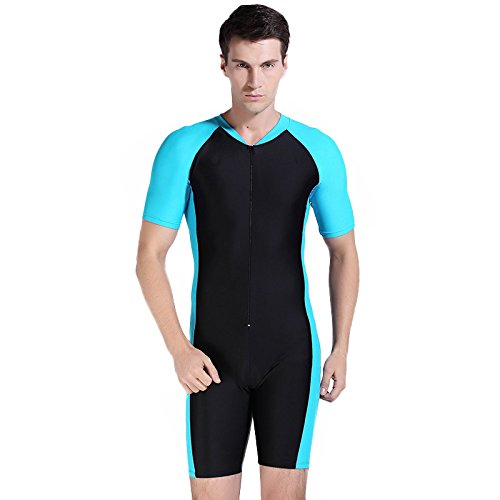 Herren-Damen-UV-Schutz-Wetsuit-Badeanzug-Badebekleidung-Wassersport-Anzug-short-neu-0