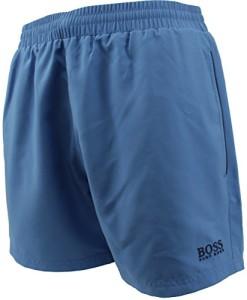 Hugo-Boss-Bade-Shorts-normale-Lnge-einfarbig-Rot-Blau-Dunkelblau-0