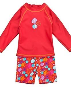 Landora-Baby-Kleinkinder-Badebekleidung-langrmliges-2er-Set-mit-UV-Schutz-50-und-Oeko-Tex-100-Zertifizierung-in-rot-oder-violett-0