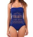 Lookbook-Store-Damen-Klassisch-Einteilig-Spitze-Badeanzug-Schwimmanzug-mit-Abnehmbarem-Nackenband-Einfarbig-0