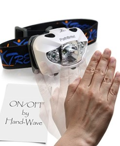 PathBriteTM-LED-Stirnlampe-Geeignet-frs-Campen-Heimwerken-Laufen-und-fr-die-Jagd-IR-Kontrollsensor-durch-Handbewegung-weierote-Beleuchtungseinstellung-Notfall-Blinker-super-hell-leicht-wasserdicht-Kos-0