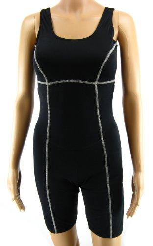 neu billig erstaunliche Qualität Räumungspreis genießen Shepa Damen Badeanzug mit Bein Schwimmanzug Knielang M046 Schwarz