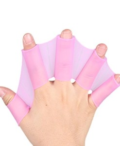Tenflyer-Silikon-Hand-Schwimmen-Flossen-Flossen-Fast-Finger-Handschuhe-Web-Paddle-Rosy-S-0