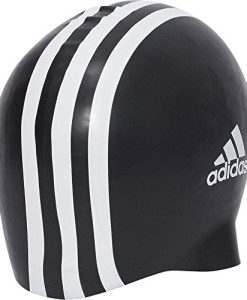 adidas-Herren-Badekappe-Silicone-3-Stripes-1-Piece-BlackWhite-One-Size-802310-0