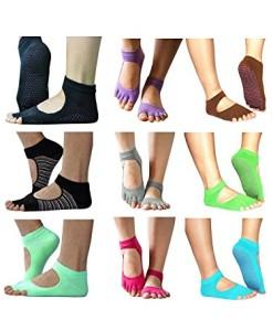 1-Paar-Unisex-Damen-Herren-ZehenSocken-Yogasocken-offene-Zehen-Socken-0