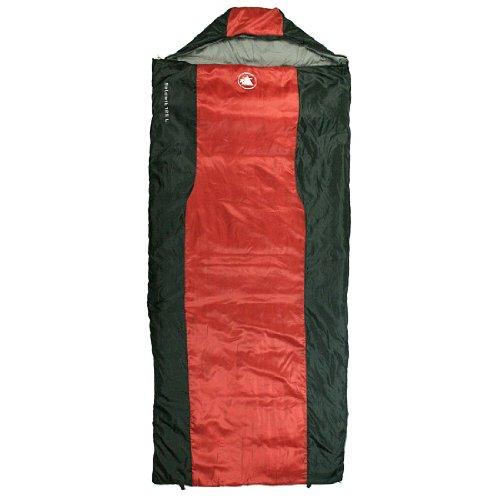 10T-Selawik-125L-Einzel-Decken-Schlafsack-215x90cm-mit-Kapuzen-Kopfteil-1500g-schwarzrot-bis-3-C-0-0