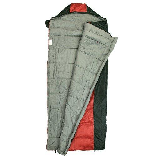 10T-Selawik-125L-Einzel-Decken-Schlafsack-215x90cm-mit-Kapuzen-Kopfteil-1500g-schwarzrot-bis-3-C-0-1