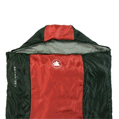 10T-Selawik-125L-Einzel-Decken-Schlafsack-215x90cm-mit-Kapuzen-Kopfteil-1500g-schwarzrot-bis-3-C-0-3