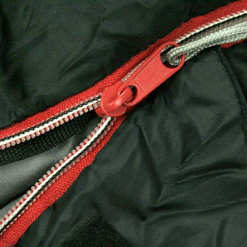 10T-Selawik-125L-Einzel-Decken-Schlafsack-215x90cm-mit-Kapuzen-Kopfteil-1500g-schwarzrot-bis-3-C-0-6