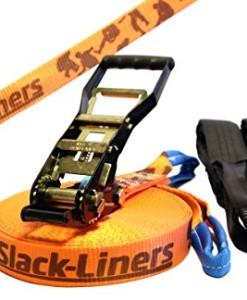 6-Teiliges-Slackline-Set-50mm-breit-25m-lang-mit-Langhebelratsche-hchste-Qualitt-NEU-0