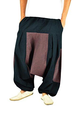 BONZAAI-Haremshose-Sommerhose-Harem-Pant-Aladinhose-Pumphose-Pluderhose-GOA-Hose-yoga-alternative-Bekleidung-Wasser-0-0