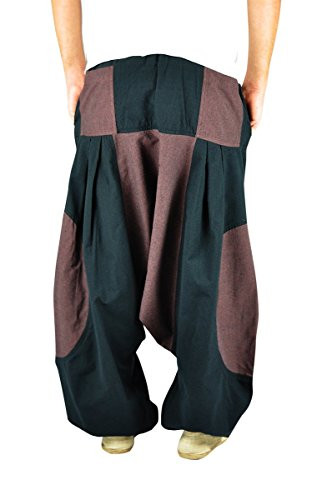 BONZAAI-Haremshose-Sommerhose-Harem-Pant-Aladinhose-Pumphose-Pluderhose-GOA-Hose-yoga-alternative-Bekleidung-Wasser-0-1