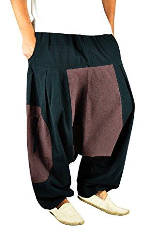 BONZAAI-Haremshose-Sommerhose-Harem-Pant-Aladinhose-Pumphose-Pluderhose-GOA-Hose-yoga-alternative-Bekleidung-Wasser-0