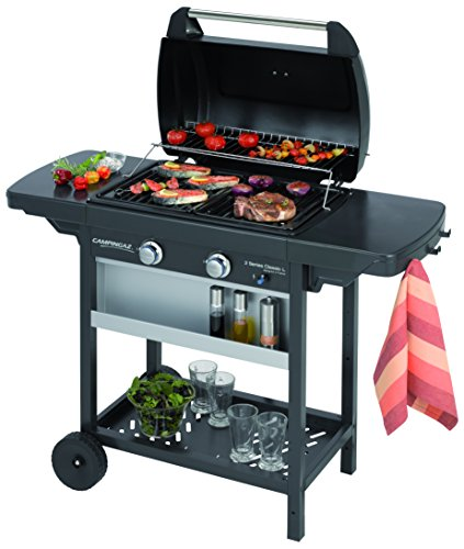 Campingaz-3000002371-Barbeque-2-Series-Classic-L-Gasgrill-inkl-Stahlwagen-schwarzsilber-60-x-35-x-87-cm-0-1