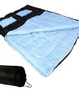 Doppelschlafsack-Schlafsack-fr-Zwei-Personen-mit-zwei-Kissen-und-Reisverschluss-Blau-0