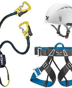 Klettersteigset-Edelrid-Cable-Lite-22-One-Touch-Salewa-Helm-Toxo-Gurt-Ferrata-Lite-0