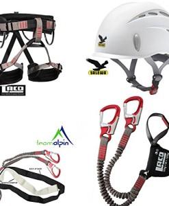 Klettersteigset-LACD-Pro-Evo-Modell-2014-LACD-Start-Gurt-Gr-M-Salewa-Toxo-Helm-0