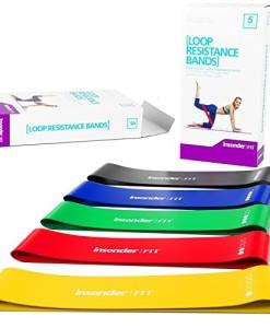 Widerstandsbnder-Fitnessband-Set-Loop-Gummi-Fitnessbnder-5-KOSTENLOSES-EBOOK-Gymnastikband-Miniband-fr-Crossfit-Pilates-Fitness-Muskelaufbau-Yoga-und-Therapie-Training-fr-Ihren-Krper-Beinen-Hintern-0