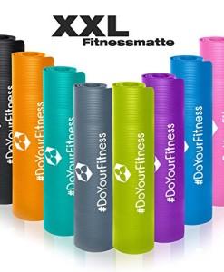 XXL-Fitnessmatte-Ashanti-dick-und-weich-ideal-fr-Pilates-Gymnastik-und-Yoga-Mae-190-x-100-x-10cm-In-vielen-Farben-erhltlich-0