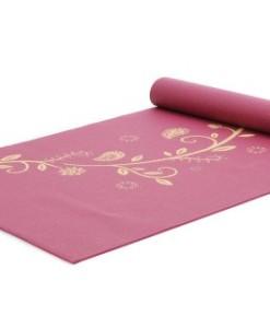 Yogistar-Yogamatte-basic-Indian-Flower-rutschfest-Bordeaux-0