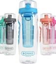 Bonke-Trinkflasche-fr-Fruchtschorlen-mit-kostenloser-Reinigungsbrste-Groe-1-Liter-BPA-freie-Sportflasche-Wasserflasche-mit-Gummigriff-und-extra-sicherem-Verschlusssystem-1-Jahr-Garantie-0