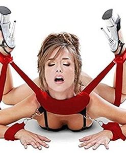 Fetisch-Bett-Bondage-Zurckhaltung-Soft-Kissen-Ankle-Cuffs-Hand-Manschetten-fr-Paare-Love-Games-0