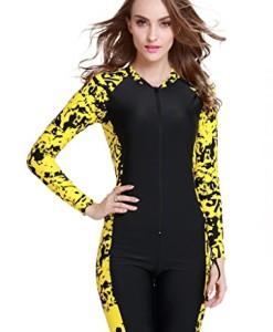 Herren-Damen-UV-Schutz-Anzug-Wetsuit-Badeanzug-Badebekleidung-Wassersport-short-Reiverschluss-0