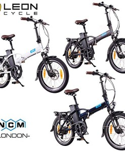 NCM-London-20-Zoll-ElektrofahrradE-FaltradE-BikePedelecKlapprad36V-250W-Bafang-Motor-36V-Li-Ion-Akku-mit-14Ah-PANASONIC-Zellenweidunkel-blauschwarzanthrazit-0