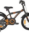 PROMETHEUS-Kinderfahrrad-16-Zoll-Jungen-in-Schwarz-Matt-Orange-mit-Metallic-Sttzrdern-Seitenzugbremse-und-Rcktrittbremse-ab-5-Jahren-16-BMX-Edition-2017-0
