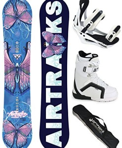 AIRTRACKS-DAMEN-SNOWBOARD-KOMPLETT-SET-AMOUR-LADY-SNOWBOARD-HYBRID-ROCKER-BINDUNG-SAVAGE-W-SOFTBOOTS-SB-BAG-144-148-151-cm-0