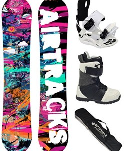 AIRTRACKS-Damen-Snowboard-Komplett-Set-GRAFFITI-LADY-Rocker-Snowboard-Bindung-Star-W-Snowboardboots-Sb-Bag-144-148-151-cm-0