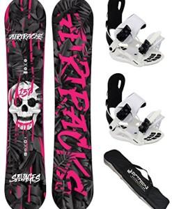 AIRTRACKS-Damen-Snowboard-Set-Savage-Lady-Rocker-Snowboard-Bindung-Star-W-oder-Master-Fastec-W-Sb-Bag-138-144-148-cm-0