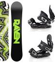 Snowboard-Set-Snowboard-Raven-Core-Carbon-Rocker-Bindung-Raven-s400-Black-ML-0