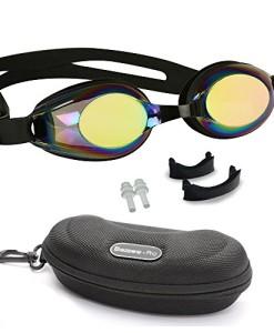 Kinder-Schwimmbrillen-rutschfest-wasserdicht-lecksicher-qualitativ-hochwertig-farbige-Silikon-Kopfriemen-vernebeln-nicht-farbige-Glser-einstellbarer-Nasensteg-0