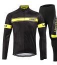 Lixada-Radtrikot-Fahrradbekleidung-Set-Kurzarm-Langarm-Winddicht-Herren-Thermische-Fleece-mit-3D-Polster-Hosen-0