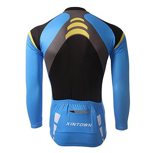 Skysper-Radkleidung-Herren-Trikot-Langarm-Jersey-Lange-Radlerhose-3D-Gel-0-6