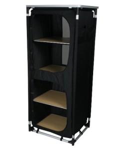 10T-Cambox-Quattro-Alu-Campingschrank-59x48x140-cm-Faltschrank-mit-Ablage-Platte-Aluminium-Zelt-Schrank-mit-4-Fchern-mobile-Camping-Kche-verschliebarer-Reiseschrank-mit-Insektenschutz-Tren-Belftung-0