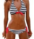 Damen-Bikini-LOBTY-Push-up-Sexy-Bikini-Set-Badenanzug-Badenmode-Swimmsuit-Gestreift-Neckholder-Gepolstert-mit-Hotpants-Casual-Triangel-Mdchen-0