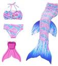 Modaka-Badeanzug-Monoflosse-Badebekleidung-Mdchen-Meerjungfrau-fr-Girls-4-Stck-Set-zum-Schwimmen-0