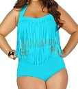NJunicorn-Uncle-Damen-Plus-Size-Zweiteilige-Badenmode-Hohe-Taille-Push-Up-Badeanzug-mit-Quaste-Bauchweg-Top-Tankini-Set-0