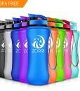 ZORRI-Sport-Trinkflasche-auslaufsicher-1L28oz21oz-BPA-Frei-Umweltfreundlich-Wasserflasche-Fr-Frauen-Kinder-One-Handed-Open-Tritan-Fr-GymOutdoorsCamping-0