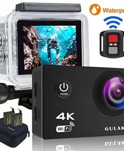 Action-Kamera-4K30FPS-Wasserdicht-Sports-cam-16MP-Wi-Fi-Unterwasser-Kamera-30M-20-Zoll-LCD-Bildschirm-170--Weitwinkel-mit-Sony-Sensor-2-PCs-1050mAh-Batterien-und-24GHz-Remote-Zubehr-Kits-0