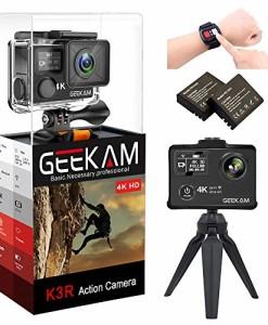 Action-Kamera-4k-GeeKam-Wasserdichte-30M-Sport-Cam-Wifi-Doppelbildschirm-Ultra-full-HD-Unterwasserkamera-170-Weitwinkel-Aktions-Helmkamera-mit-2-wiederaufladbare-1050mAh-Batterien-und-Zubehr-K3R-0