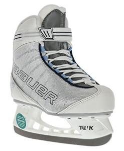 BAUER-Damen-Schlittschuhe-Flow-Rec-Ice-I-hochwertige-Schlittschuhe-mit-Edelstahlkufe-I-Knchelpolsterung-I-bequeme-Eishockey-Schlittschuhe-I-ideal-fr-Einsteigerinnen-I-Gefttert-Wei-0