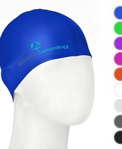 DoYourSwimming-KINDER-Badekappe-Schwimmhaube-fr-Kinder-Mdchen-Jungen-bis-ca-10Jahre-Silikon-100-wasserdicht-elastische-Badekappe-Schwimmkappe-Tragekomfort-Goldfisch-0